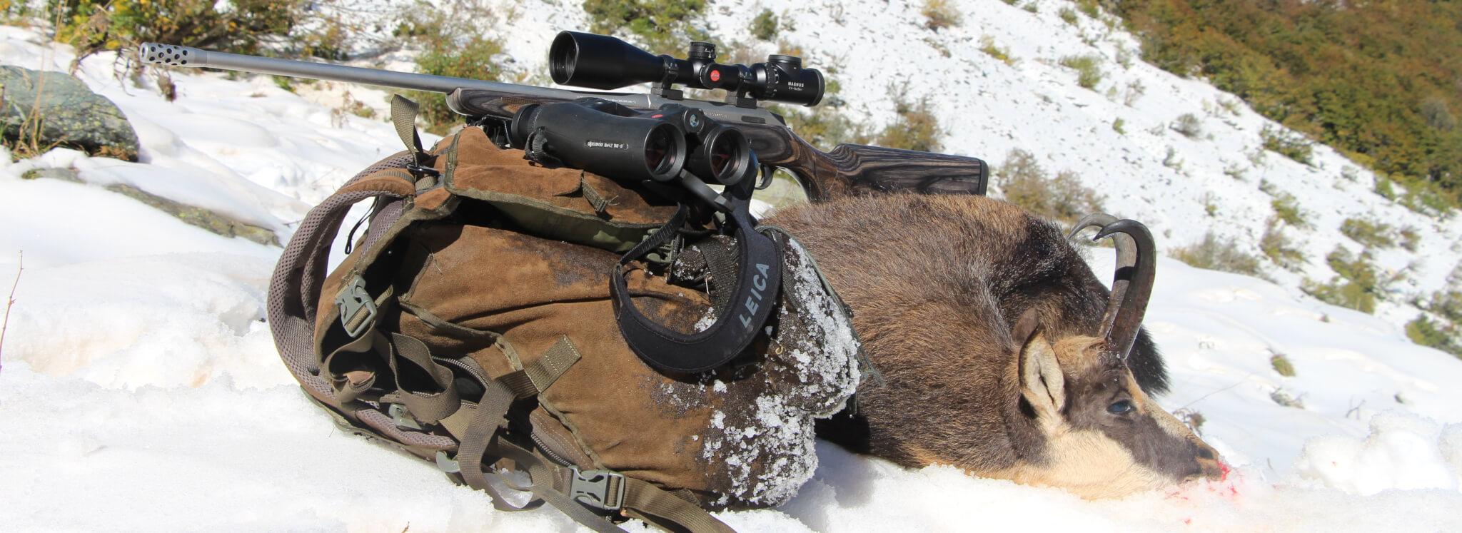 Geovid HD-B comunica al cacciatore quanti clic dare alla torretta del Magnus i