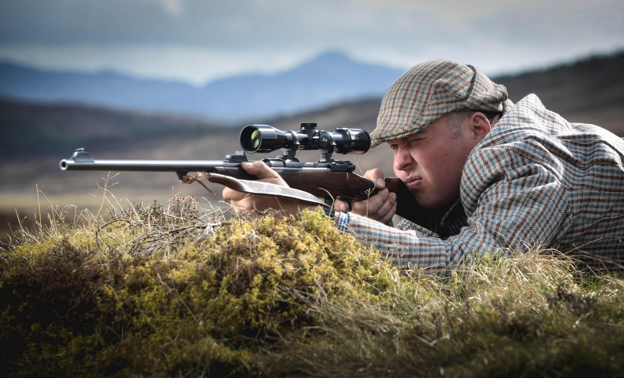 Il Leica Visus 3-12x50 sulla campagna pubblicitaria della nuovissima Rigby Highland Stalker