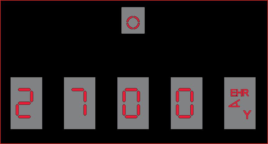 Il nuovo display, nitidissimo, mostra anche la modalità in uso (EHR)