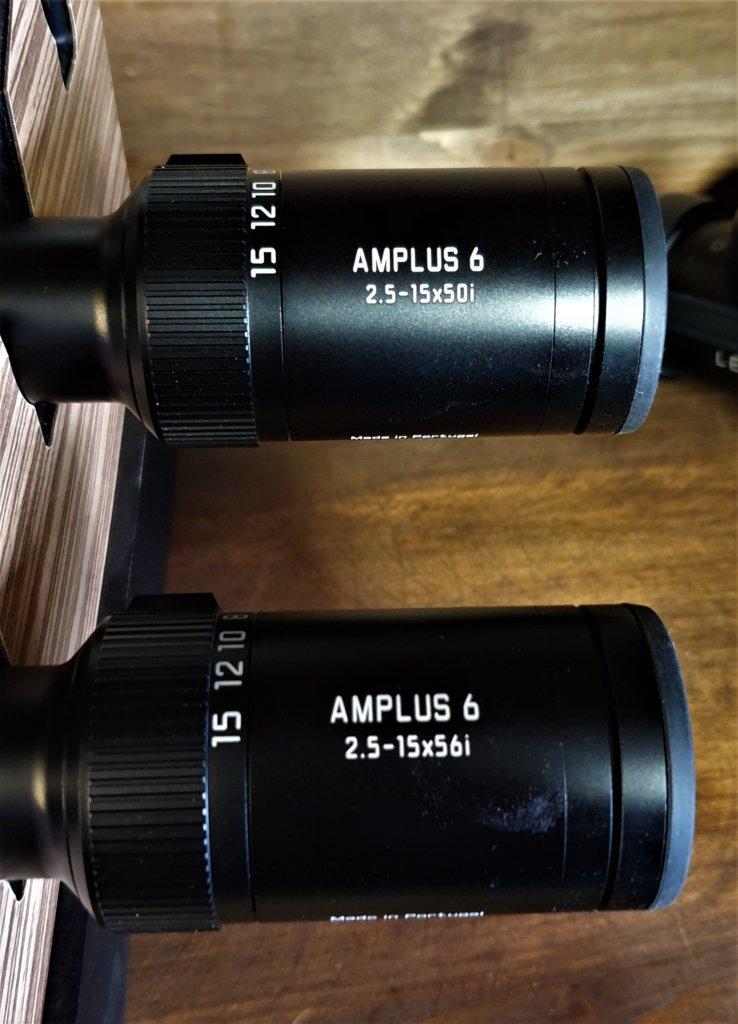 Amplus 6i 2.5-15x50 e 2.5-15x56 sono esternamente identici, anche nella lunghezza.